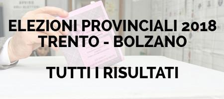 Elezioni Provinciali 2018 Trento -Bolzano Tutti i risultati