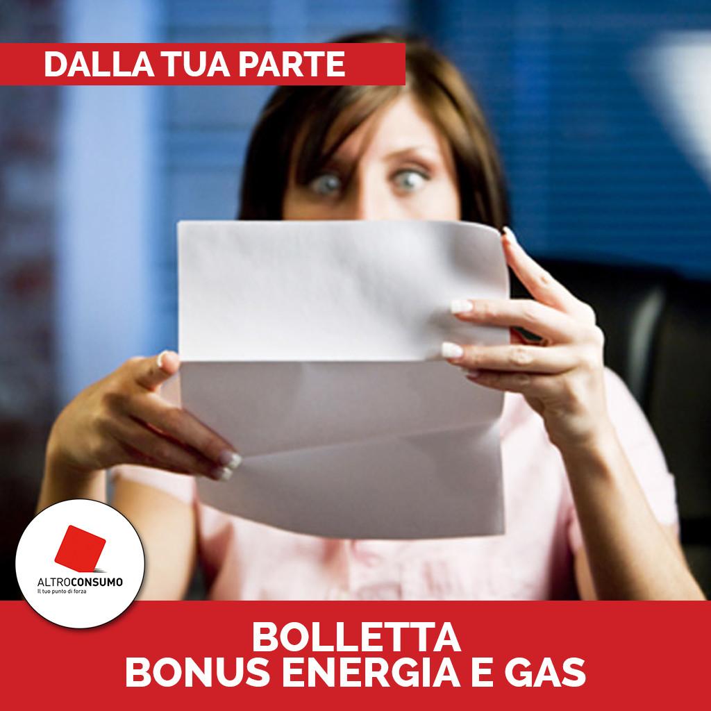Dalla tua parte Bolleta bonus energia e gas