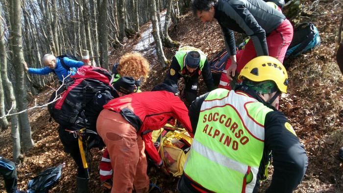 Intervento del soccorso alpino nel Piacentino