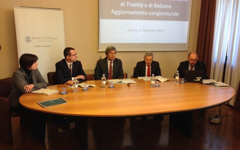 BANCA D'ITALIA. SODDISFACENTEL'ANDAMENTO ECONOMICO DELLE DUE PROVINCE, MA BOLZANO VIAGGIA PIÙ VELOCE