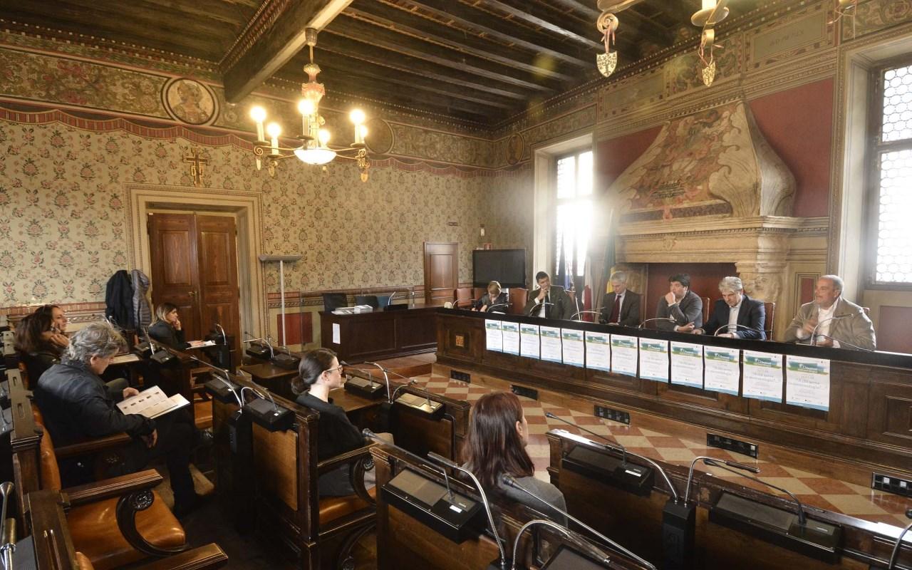 Rovereto, Municipio 9-11-2018. Conferenza stampa di presentazione del festival della Meteorologia.