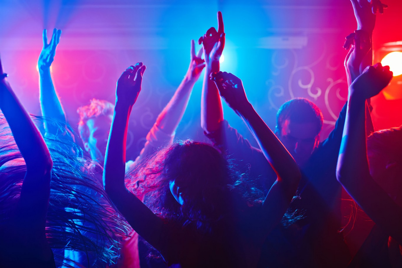 Energetic crowd partying all night long