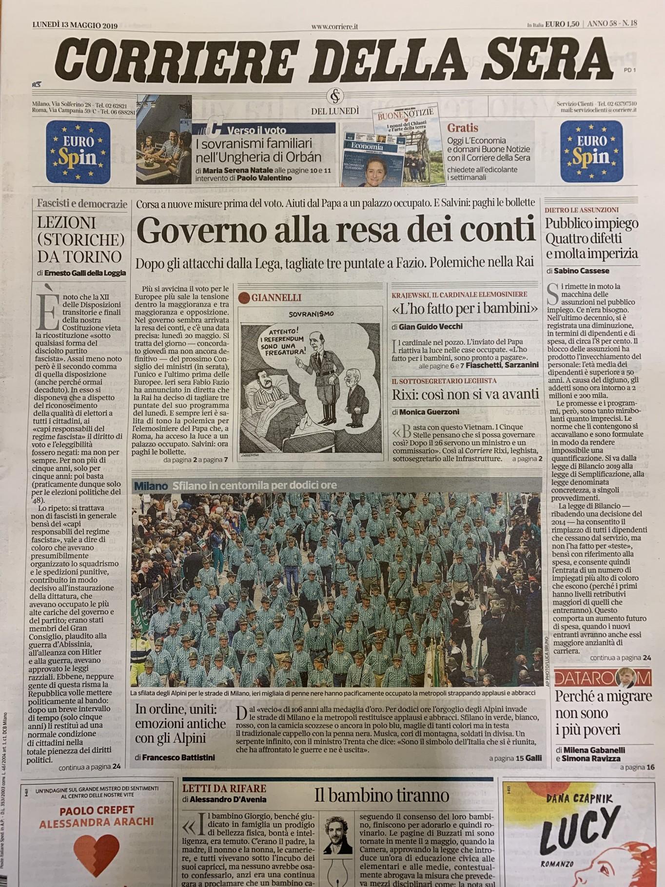 corriere 13.05