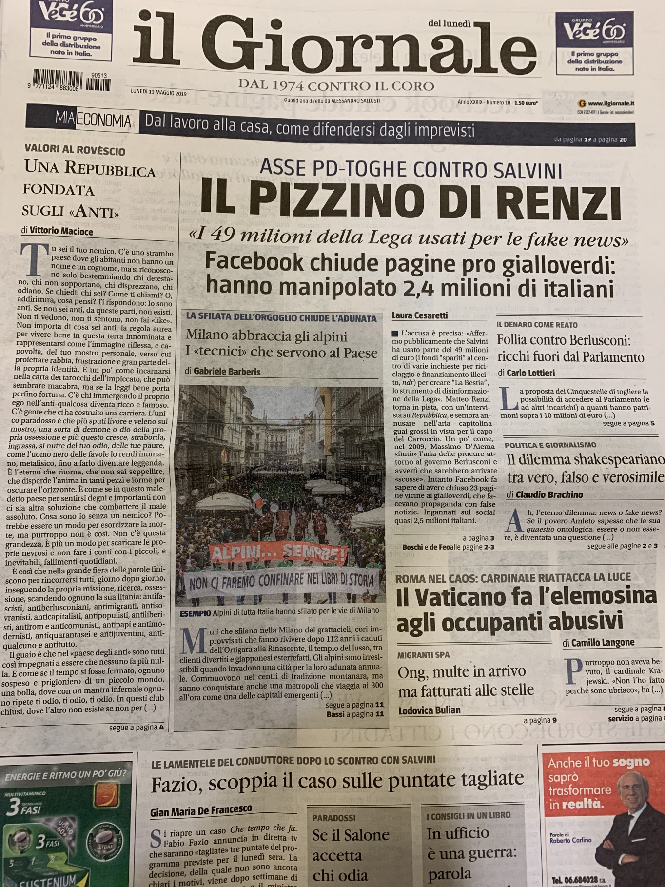 giornale 13.05