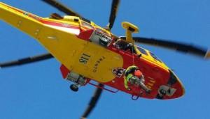 Elicottero Trentino emergenza, intervento in montagna