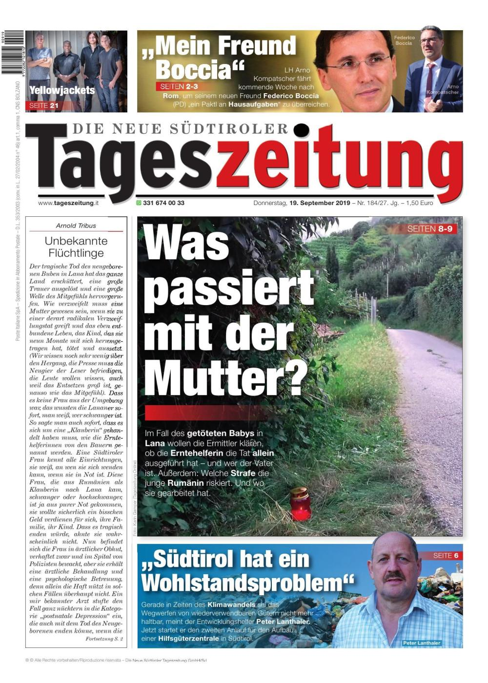 TAGES 19.09.2019