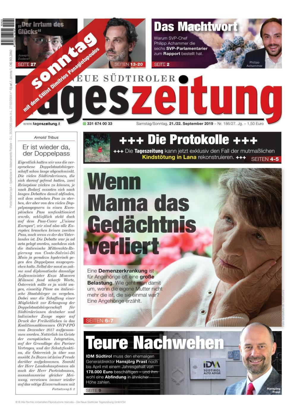 TAGES 21.09.2019