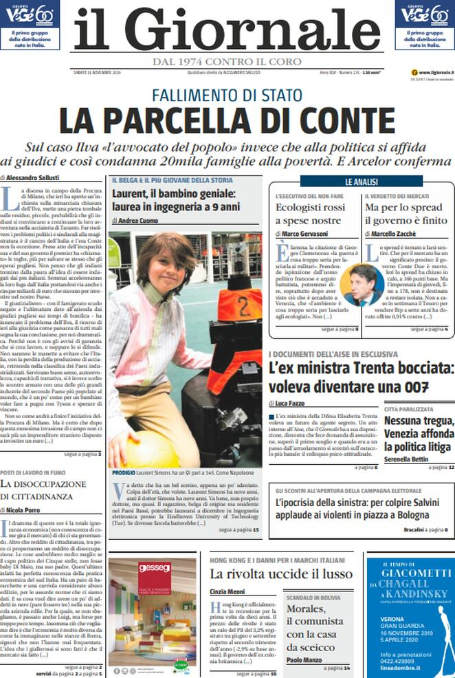 GIORNALE 16.11.2019