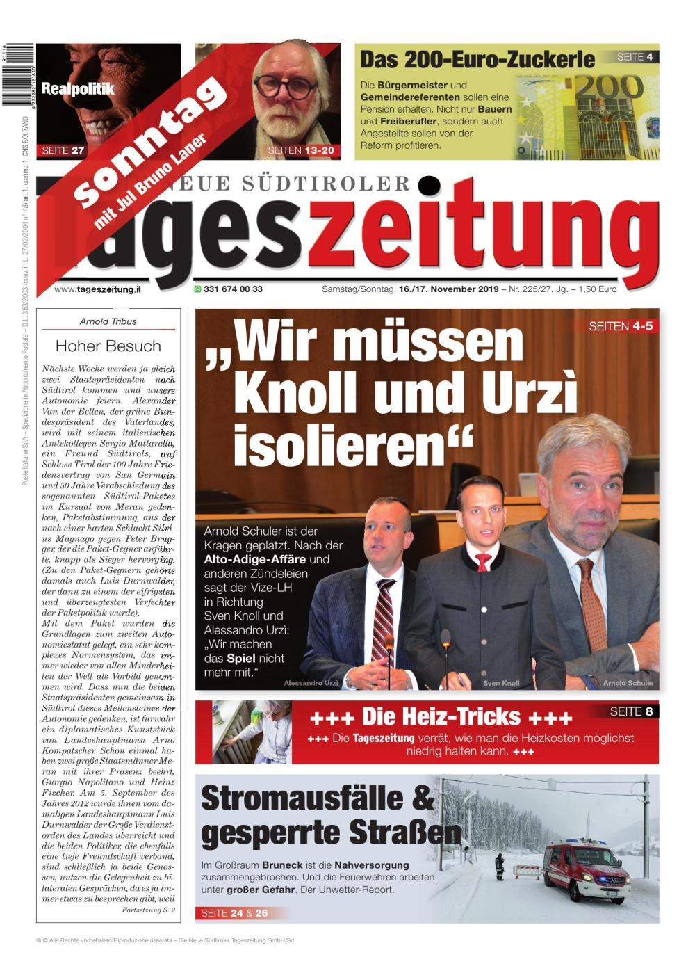 TAGES 16.11.2019