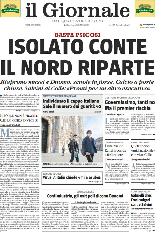 giornale 28.02.2020